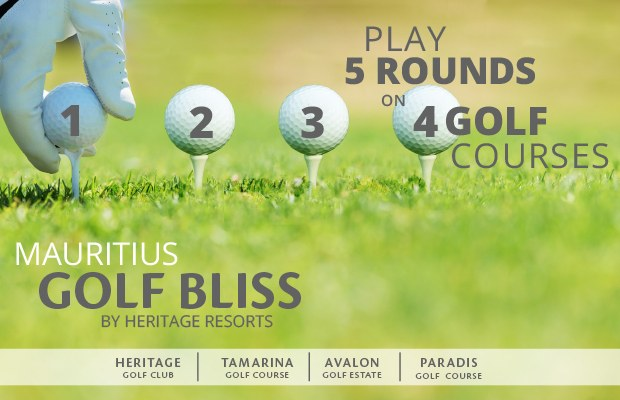 Stay at Heritage Le Telfair - & Grab the opportunity to discover three additional 18 Hole golf courses.GOLF PACKAGE: € 350 PER PERSON• 2 rounds at the Heritage Golf Club.• 3 rounds at the 3 above mentioned golf courses• Shared buggy and return transfers at fixed times for each round.Golf equipment and practice balls are at extra cost.