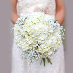 Classic (Large) Hydrangea Wedding Bouquet $120