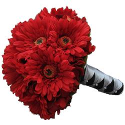 Classic Gerbera Daisy Wedding Bouquet $85