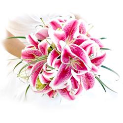 Classic Oriental Lily Wedding Bouquet $120