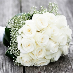Roses Wedding Bouquet Bride $90