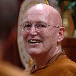 LP Sumedho  - Ven. Ajahn Sumedho was born in the USA, became a bhikkhu in 1967 and trained nine years under LP Chah at Wat Pah Pong, a forest monastery in Ubon province, Thailand. In 1976 he was invited to Britain; he established Cittaviveka (Chithurst Buddhist Monastery) in West Sussex in 1979, and Amaravati Buddhist Monastery in Hertfordshire in 1984. During his thirty-four years of being based in Britain, he taught extensively throughout the world, has inducted more than a hundred aspirants of many nationalities into the samaṇa life, and also authorised the establishment of six other monasteries. Many of his talks are available in audio versions, and some have been transcribed and edited into a collection of books.In November 2010, LP Sumedho put aside his duties as abbot and teacher and is practising in more secluded environments.