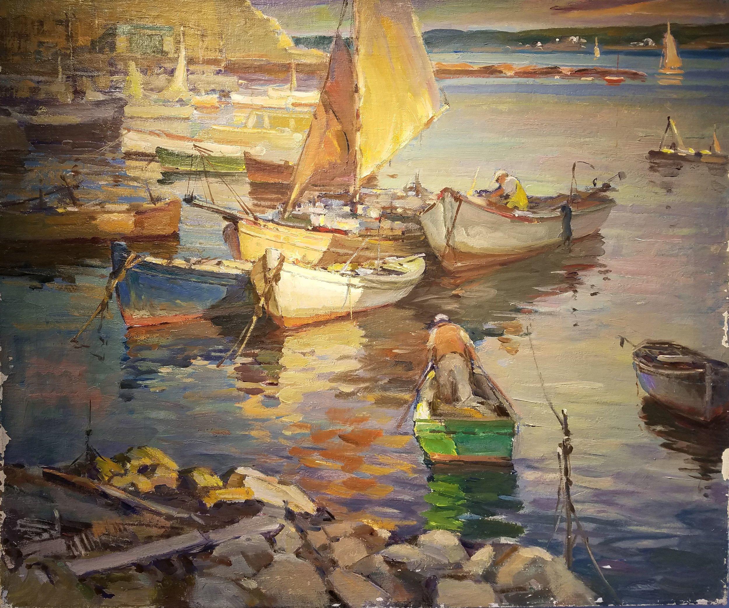 84.1.90_A. Cirino_Harbor Scene_25x30.jpg
