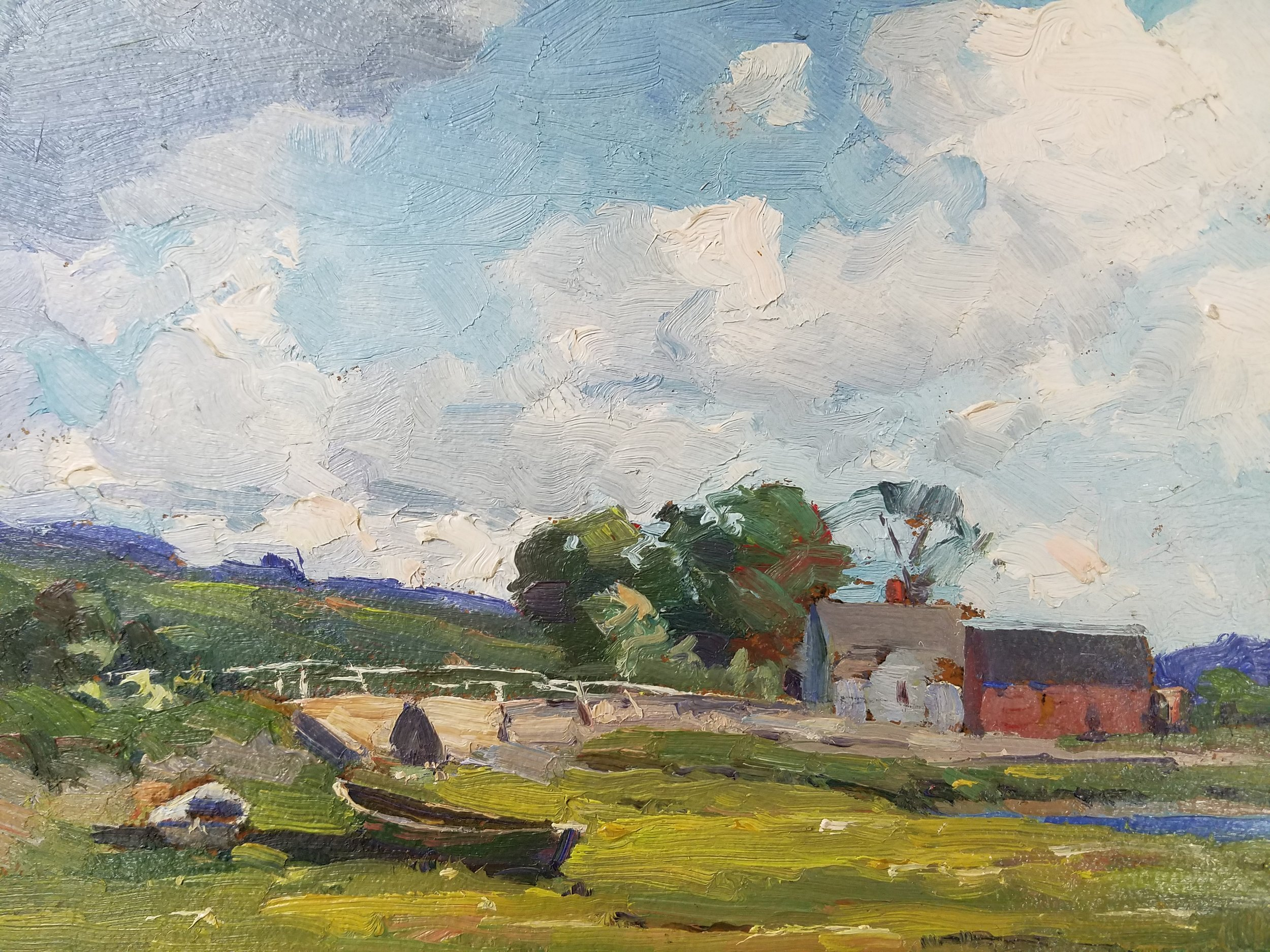 Image:  Marion Parkhurst Sloane (1876-1954) ,  Barnstable, MA, oil on board.