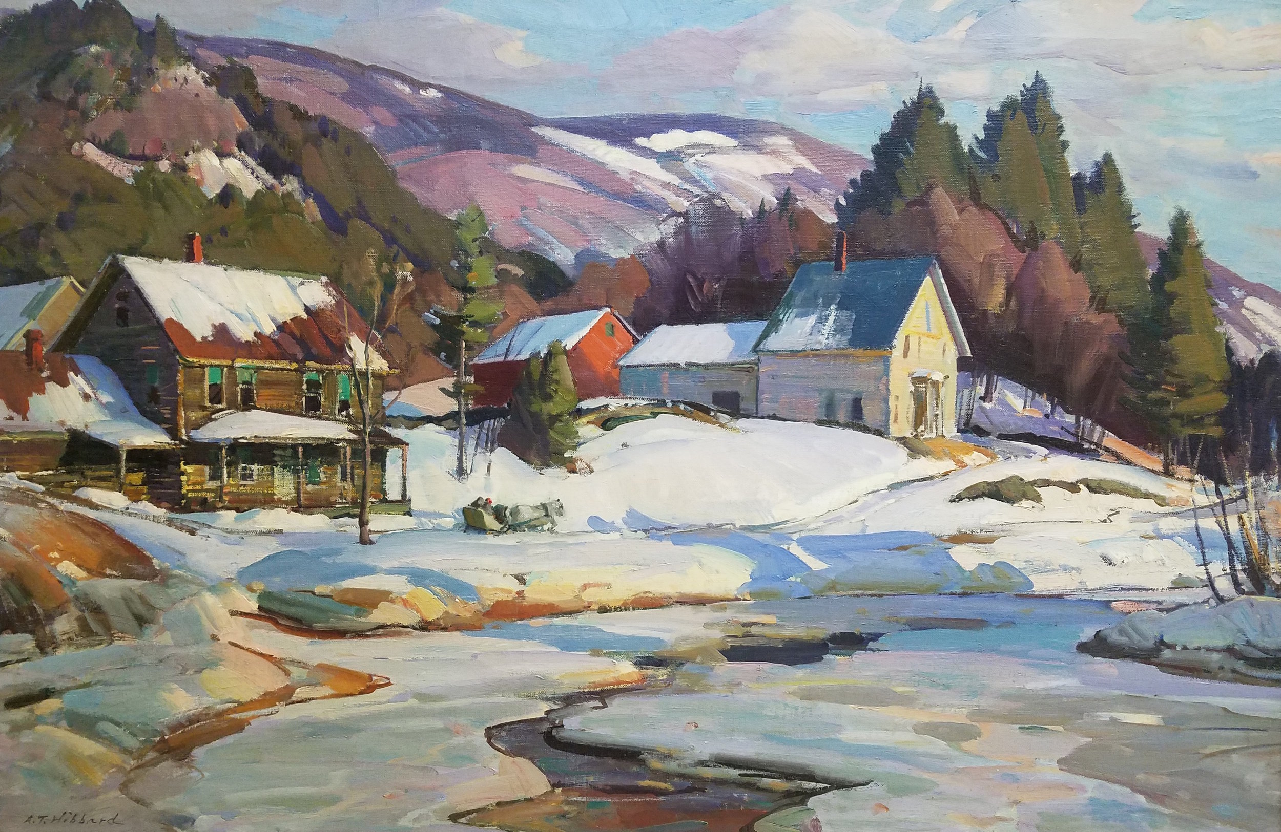 South Londonderry , VT, Aldro T. Hibbard ,  Founding Member of the Rockport Art Associciation & Musuem