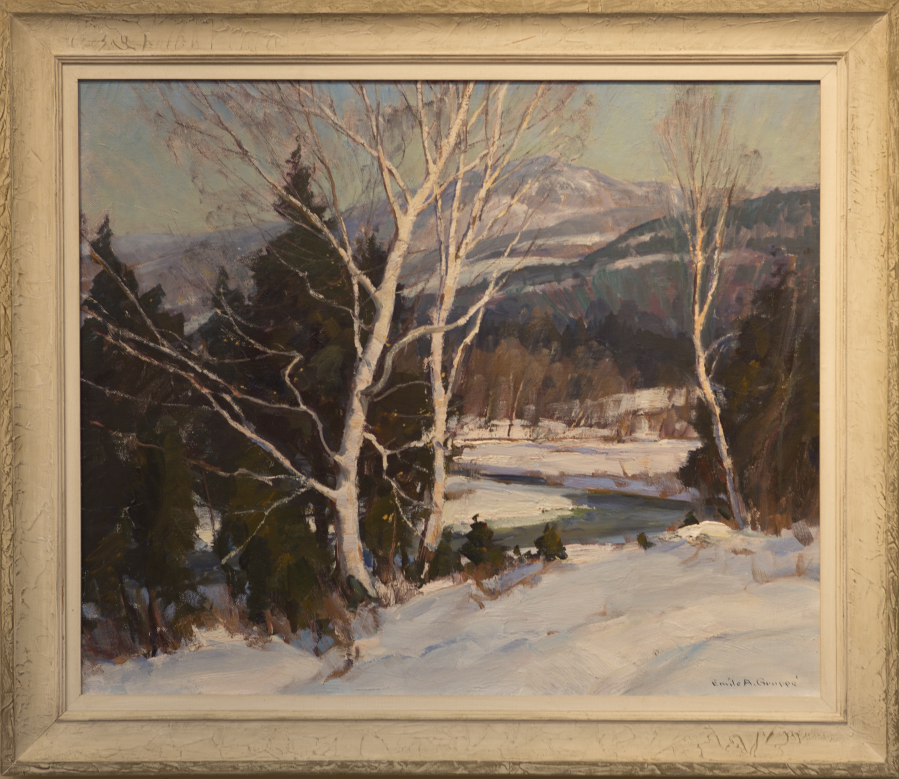 Lot # 183 : Birches in Winter