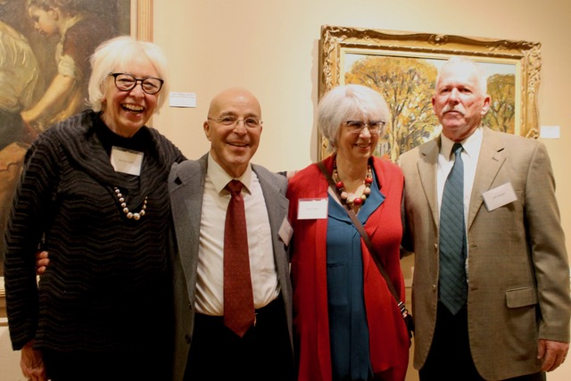 L-R: Artist Marilyn Swift, Artist John Caggiano, Author & Art Historian Judith A. Curtis, and Artist Jeff Weaver were featured speakers at a 2019 Gallery Talk: Night at the Museum.