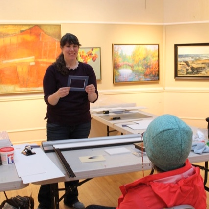 RAA&M's Collections and Exhibitions Manager Sarah Milton shares her extensive knowledge of Fine Art Framing at a recent Artist Demo.