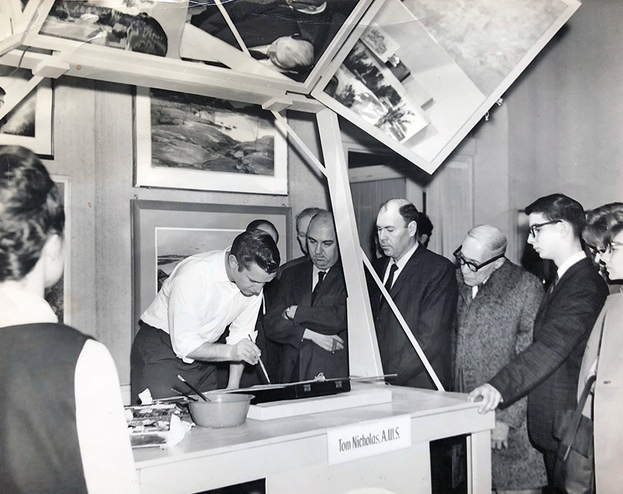Tom Nicholas A.W.S. Demonstration, 1964