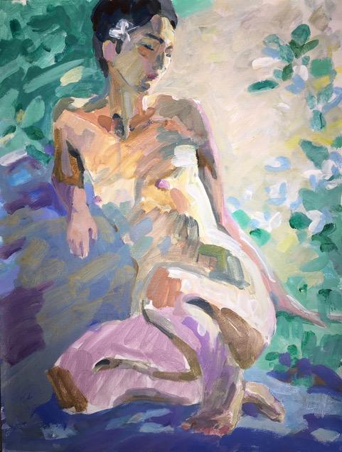 Charles Shurcliff,  Figure , Acrylic on canvas pad