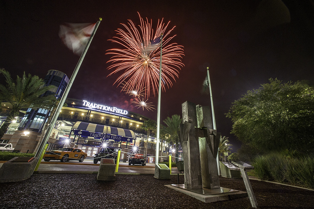 Fireworks over Tradition Field