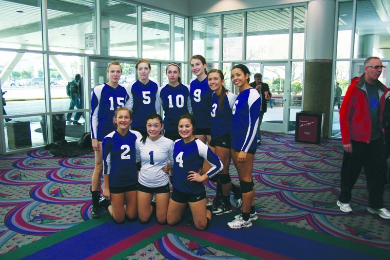 Members of the Pocatello Elite Volleyball team pose after competing in the Las Vegas Classic in Las Vegas, Nev. two weeks ago.