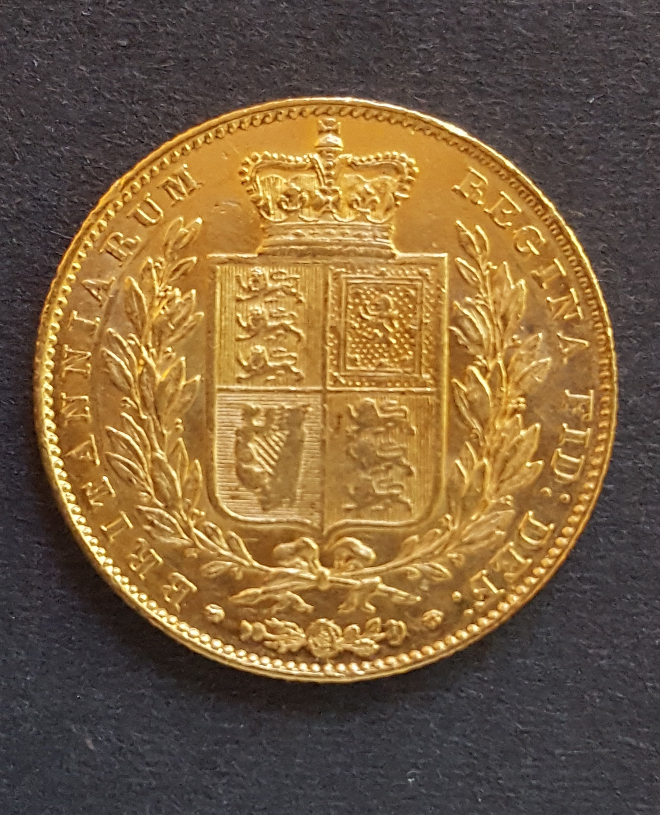 1846 Shield Back Sovereign.