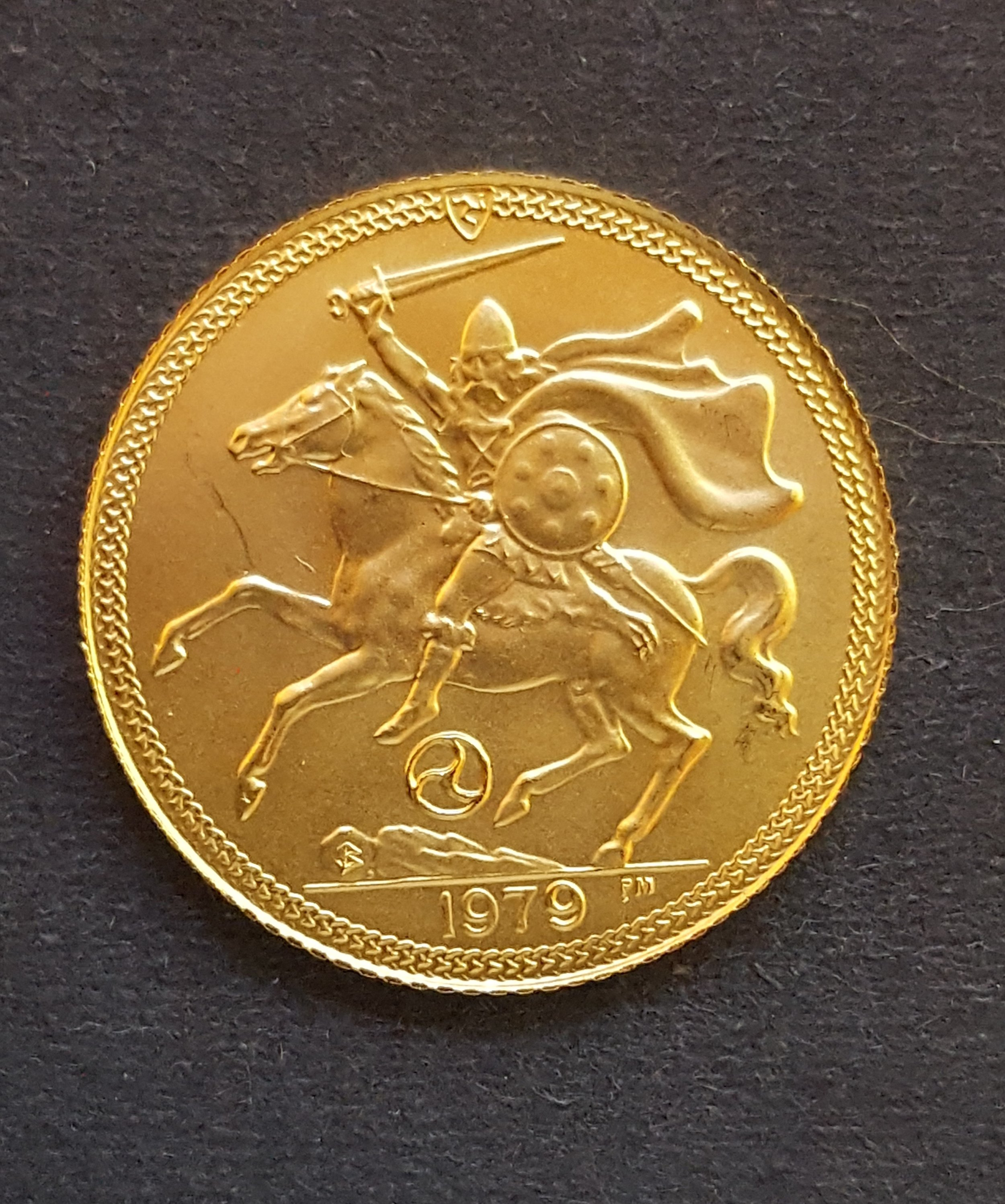 Isle of Man Half Sovereign 1979.