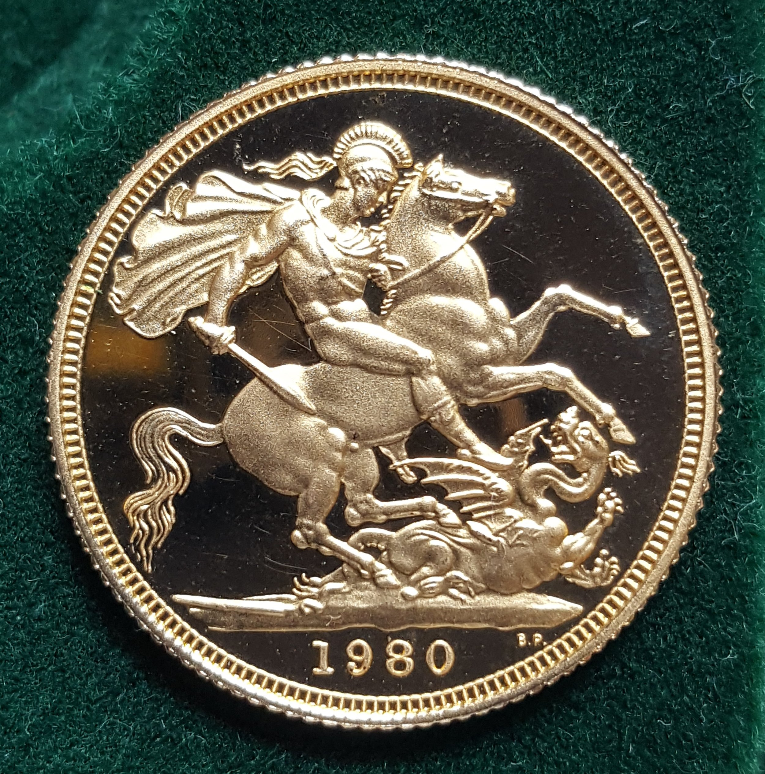 Queen Elizabeth II 1980 Proof Full Gold Sovereign.