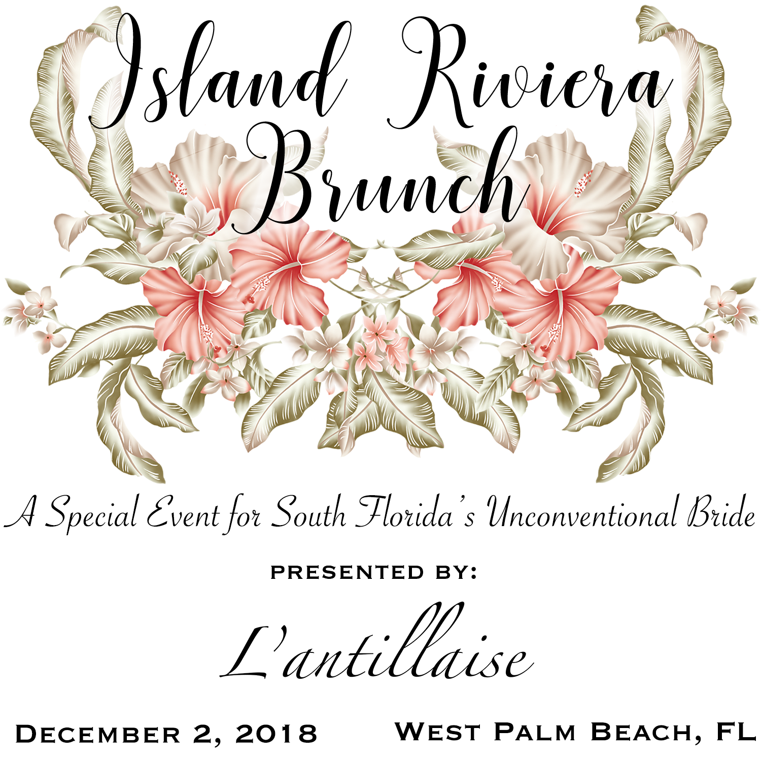 Island riviera Bridal brunch - Big news L'antillaise lovers! We've decided to launch a brand new option for South Florida's unconventional brides to find what they need to make the wedding of their dreams come true. This December, we will be hosting an EPIC bridal brunch alongside a group of insanely talented #girlbosses to give free spirited brides in the area a taste of what it's like to do things a little differently. Our goal is create a new paradigm in the presentation of bridal while also empowering women entrepreneurs in the bridal industry. So mark your calendars and grab your best friends to join us while we celebrate your light hearted approach to love and marriage.