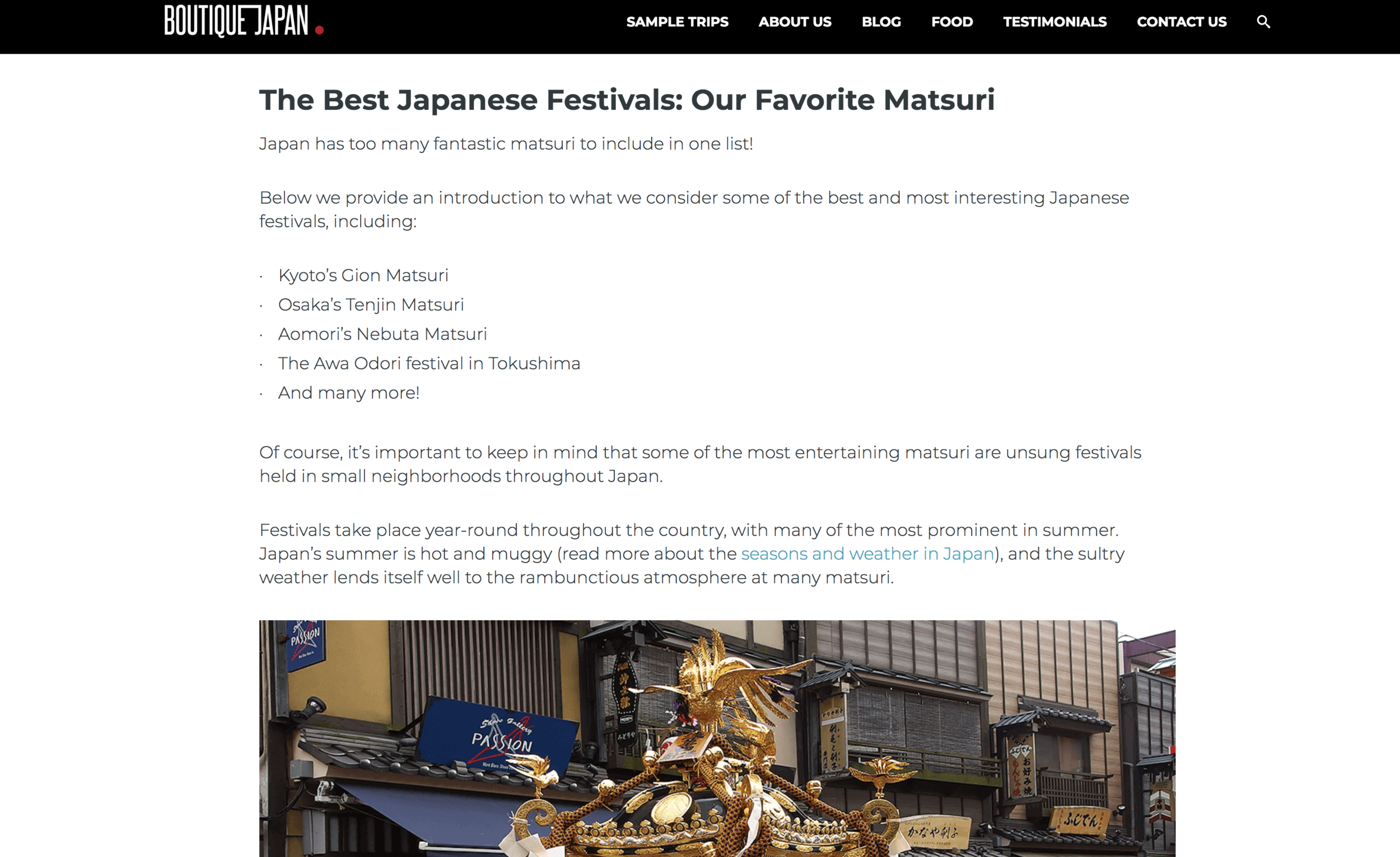 "Most travel websites only list the ""top"" or ""best"" festivals in Japan but ignore the smaller regional festivals that can be just as eye-opening and fun."