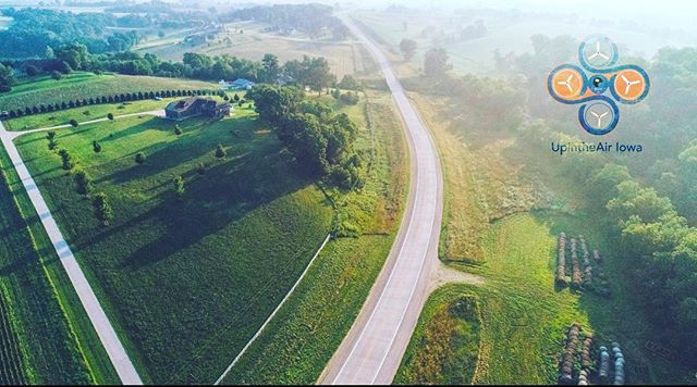 Just aerial photo from this morning's gig. #droneaddicts #aerialphotography #iowa #farmlife #earthawesome #farmhousestyle #rurallandscape #drones #dji #cedarrapids #videographer #green #landscapephotography #mornings #sunrise