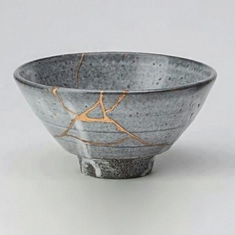 It's a story of redemption. The lost sheep is found, the prodigal son embraced, the lame man walks, the blind man sees... The whore becomes the Bride; the sinner is saved. - (Kentsugi is the Japanese art of fixing broken pottery with gold.)