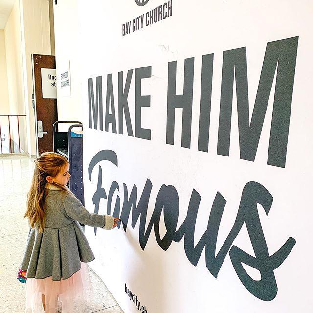 Make Him famous.