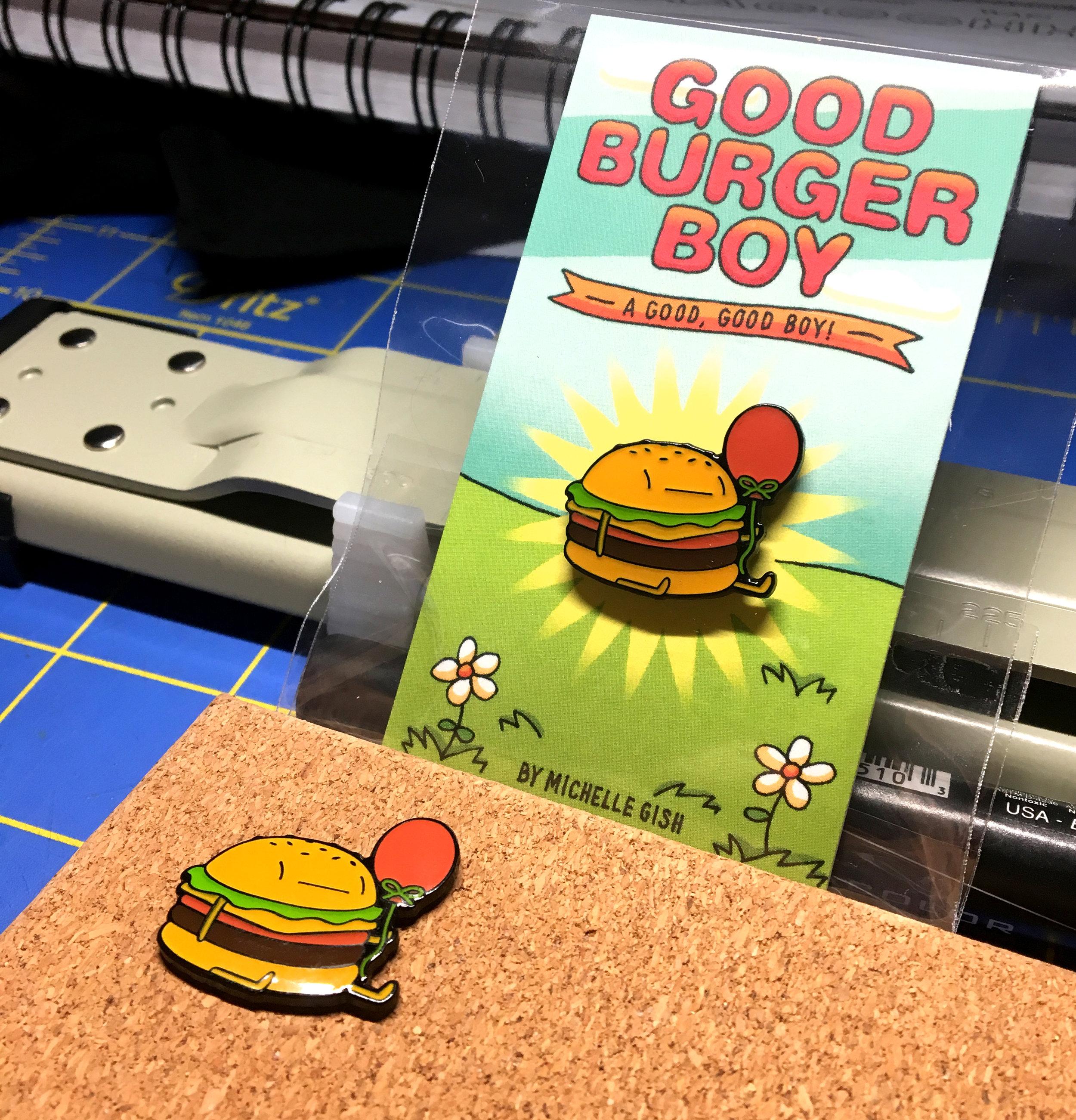 Good Burger Boy enamel pin! He's a good, good boy.