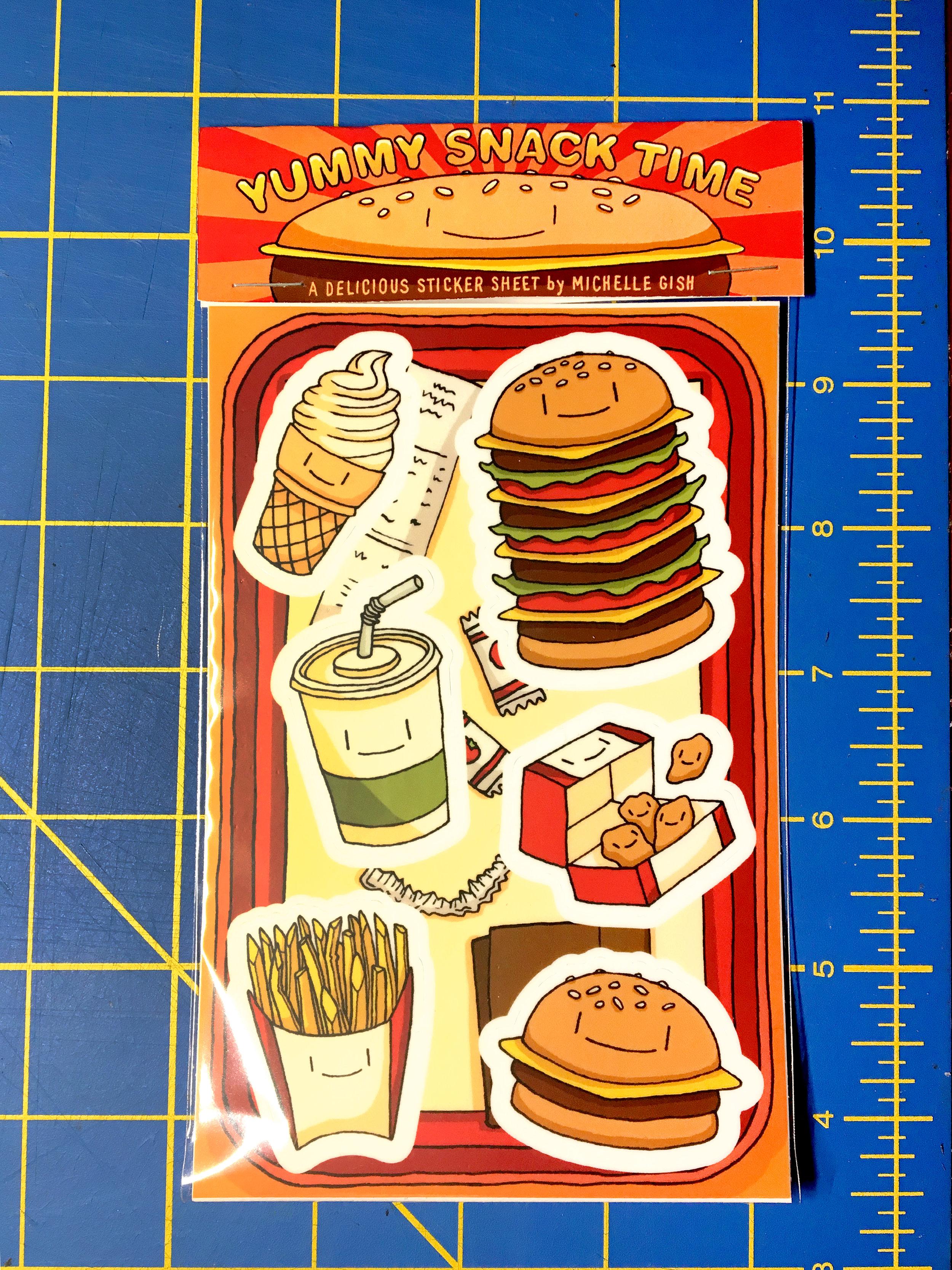 Yummy Snack Time sticker sheet!