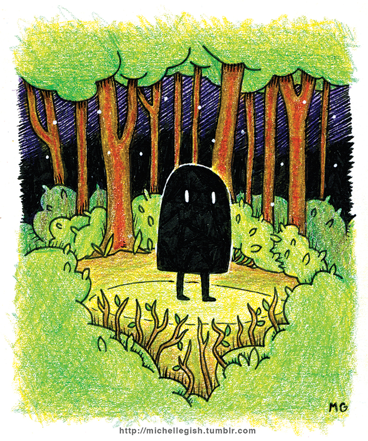 Little Ghost Mini Print