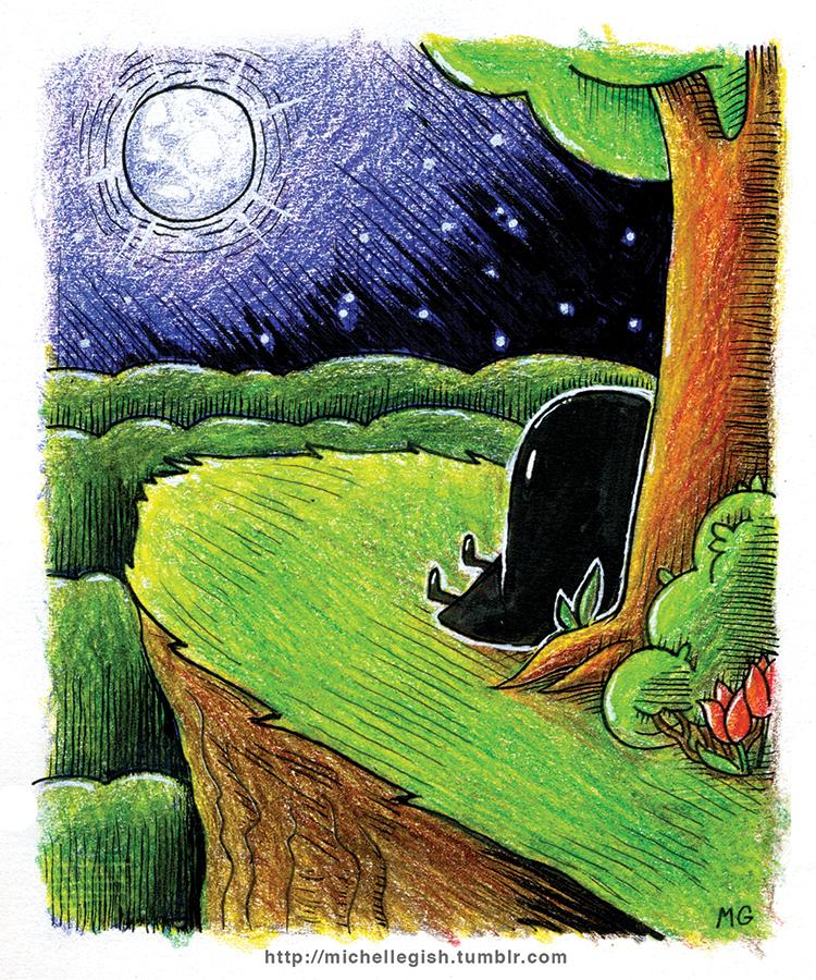 Moon Ghost Mini Print