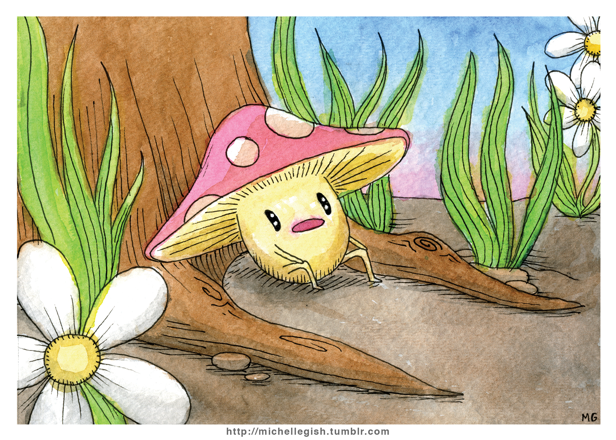 Mushroom Buddy Mini Print