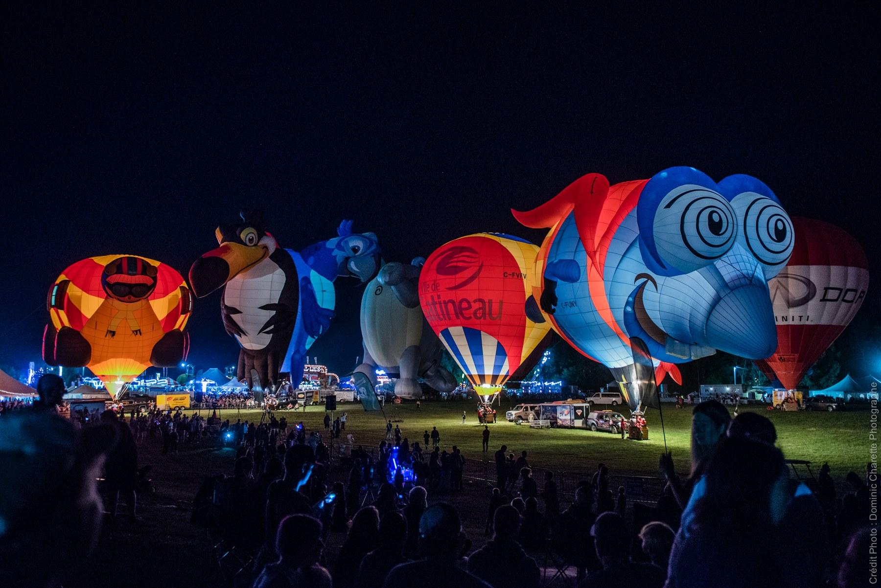 Le Festival des montgolfières de Gatineau. Photo : Dominic Charette