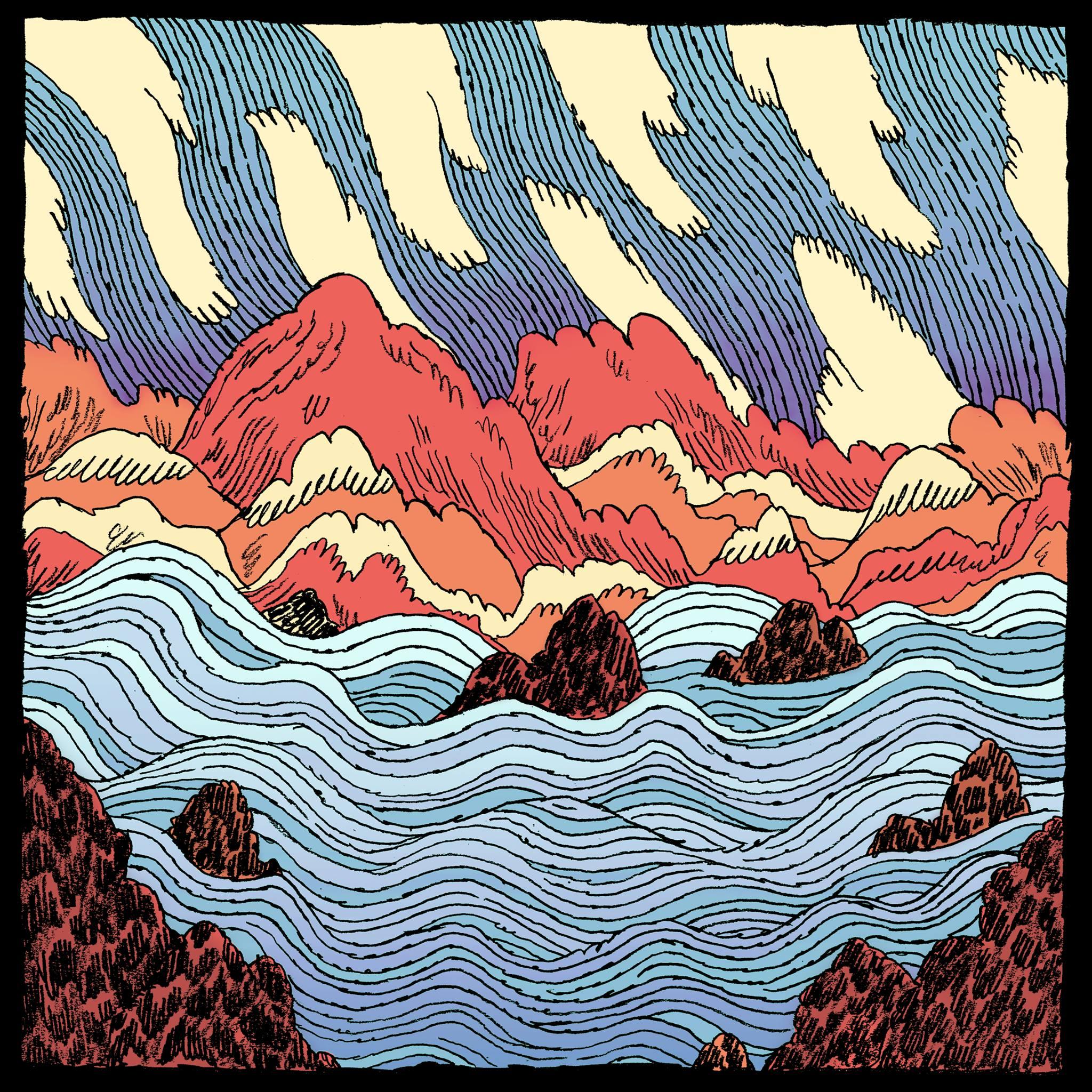 Couverture d'album du EP Once a Fisherman from Spain de Okies, réalisée par    Philippe Shewchenko   .