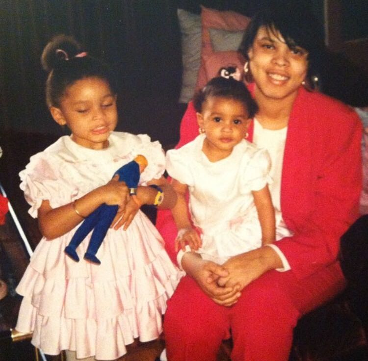 My big sister, my mom, and me on Easter Sunday