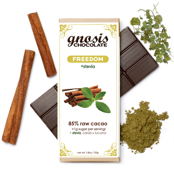 This is our stevia-sweetened bar - with plans to expand this category!