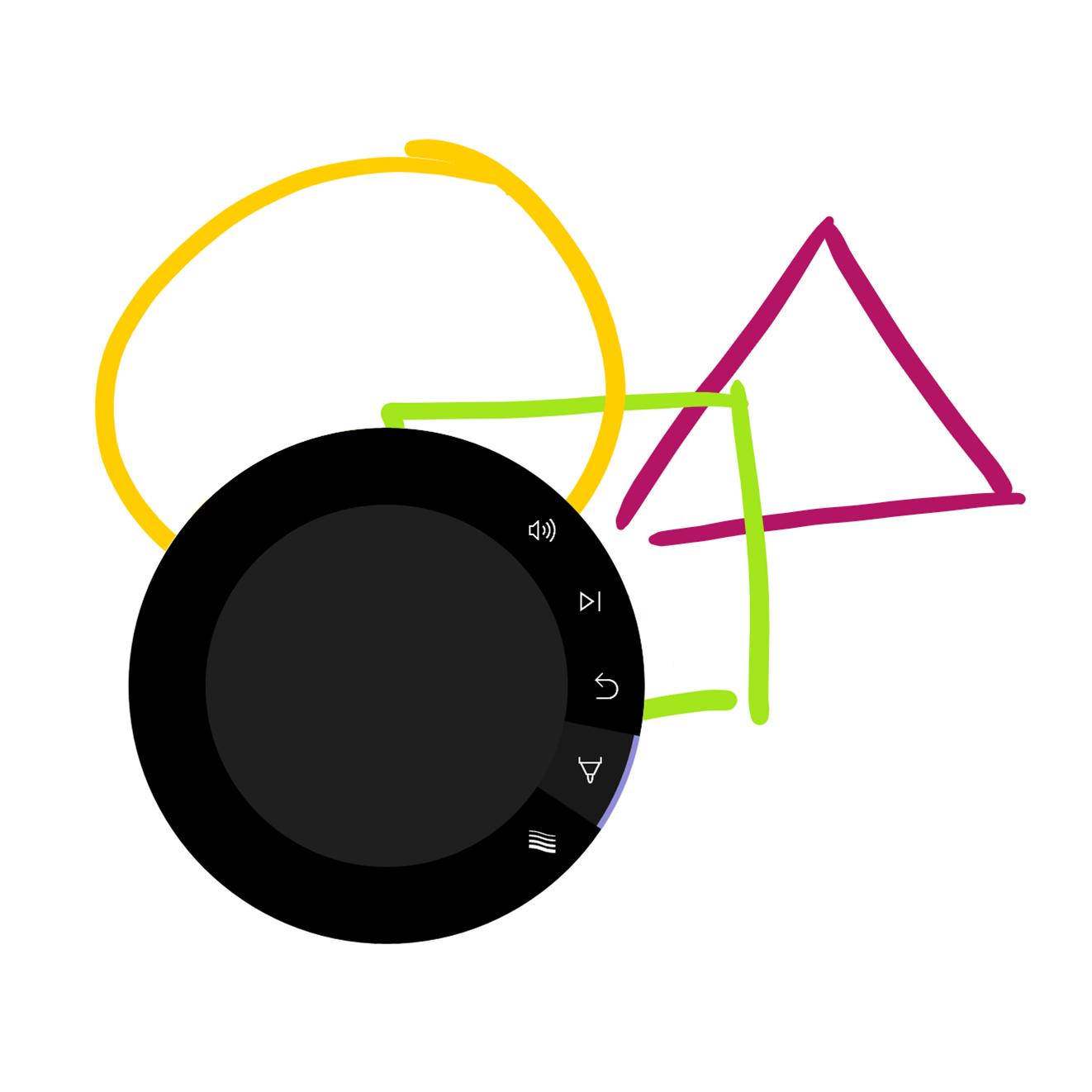 On-screen Dial UI