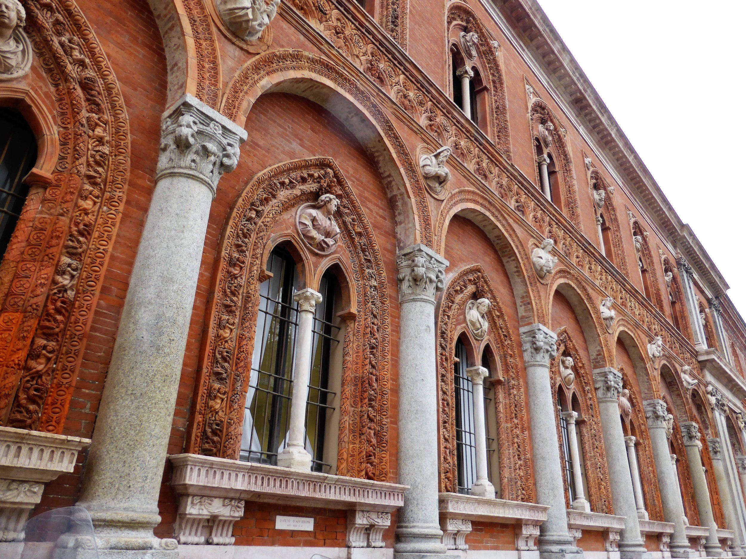 Sforzinda real time: Façade of former Ospedale Maggiore, Milan. Photography by the author