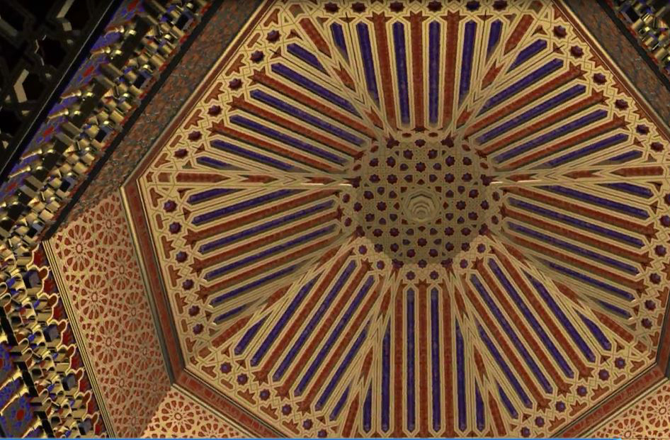 Al-Badi palace dome, reconstruction by Antonio Almagro