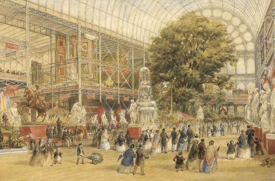 Thomas Abel Prior, Queen Victoria opening the 1851 Universal Exhibition, at the Crystal Palace in London, Google Art Project