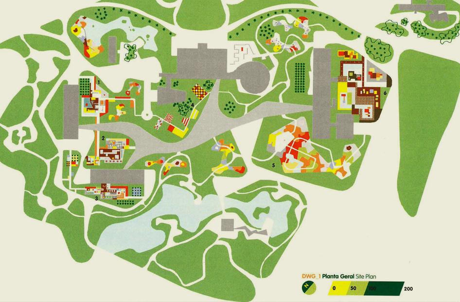 Ibirapuera site plan by Roberto Burle Marx, source Seavitt Catherine, Roberto Burle Marx e os Jardins Ornamentais do Parque do lbirapuera