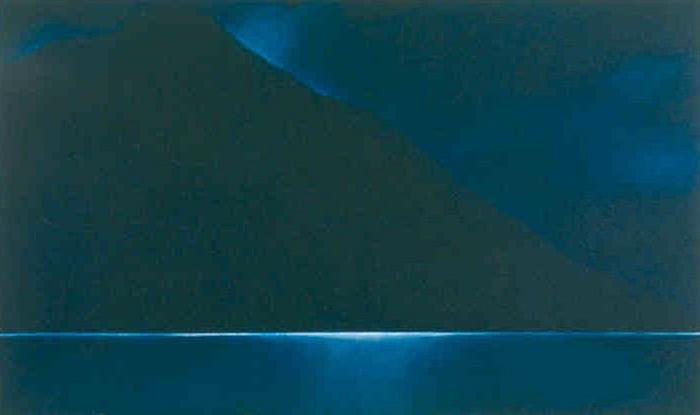 Kenai Lake, evening, 2001