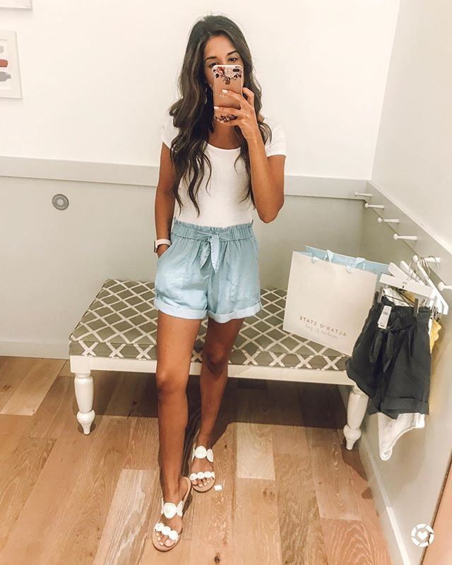 . SALE!! Linked these cute shorts from @aerie on the @liketoknow.it app. They are on sale right now for $24 and come in seven colors. Just bought myself this cute denim pair and a black pair. Like I actually feel like I'm wearing pajamas right now 😂  #comfortiskey #shorts #aerie #blog #chs #charlestonblogger #beautyandfashion #styleonabudget #budget #sale #sales #winning #altogetherbeautiful