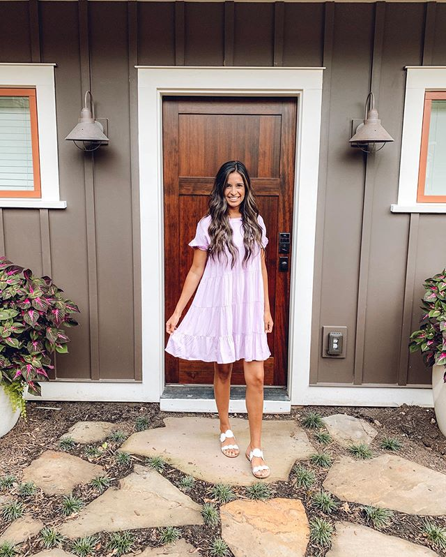 . This weekend my husband and I got away for a few days (to celebrate his birthday) and we stayed at the CUTEST @airbnb which of course means I had to take a picture at the front door!! I mean seriously, how cute is she! I just posted some pictures in my stories. If you're planning a trip to Greenville, SC let me know, I can send you the link for the place we stayed.  Also just got this cute dress from @shopdressup, it's a new arrival, so get it before it's gone, comes in so many cute colors!  Annnnnd if you haven't noticed, I got my hair done!! Went a little brighter for summer. Nothing too extreme but a little something to give me dimension. All thanks to my bestie and co-worker @colorthatmane !