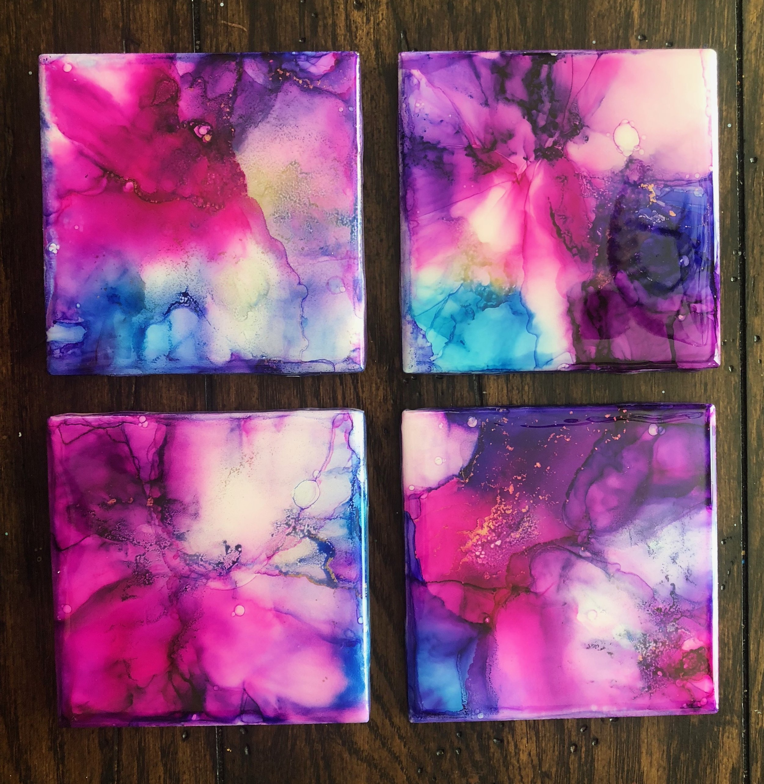 Orchid Coasters (sold)
