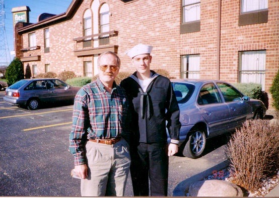 Though I had to cajole them into coming, Mom and Dad did attend my graduation from Navy bootcamp in Great Lakes, Illinois in December of 1998.