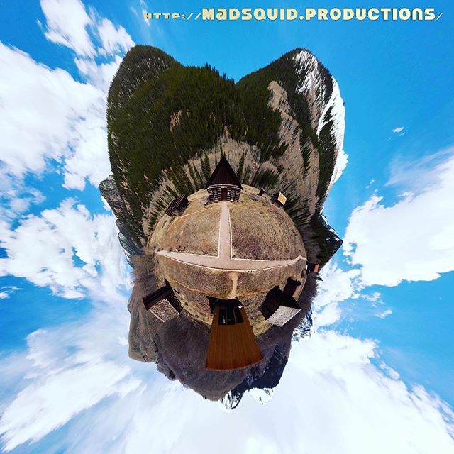 "These #tinyplanet images were photographed at #ashcroftghosttown by #drone and the 2019 avalanche debris field, respectively, both near #aspen #colorado. Captured May 25th. I make these into posters, so be sure to check out the ""MERCH"" tab on my website: http://MadSquid.Productions/booty"