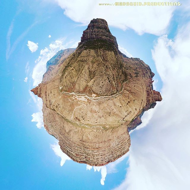 Coal Canyon Trailhead on the edge of #littlebookcliffswildhorsearea. #tinyplanet #colorado #aerialphotography #drones
