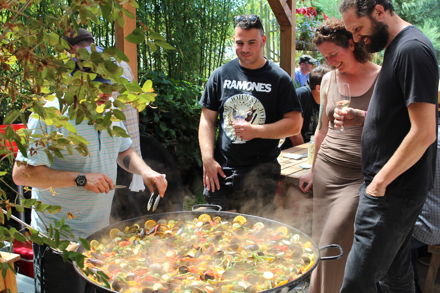 Paella Party at Slough Food in Edison, WA