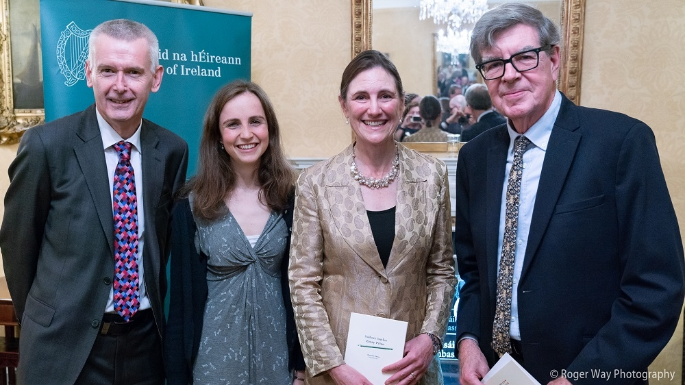The Hubert Butler Essay Prize 2018 award ceremony took place on 24 October 2018 at the Irish Embassy in London. The Irish Ambassador H.E. Mr Adrian O'Neill welcomed guests and was followed by Prof R. F. Foster who talked about Butler, the prize and the three winners. Cordelia Gelly, Butler's grand-daughter, awarded Nigel Lewis the first prize and a runners-up prize to Victoria Mason. The second runner-up Rachel Andrews was unable to join but she sent a message which Cordelia read out.
