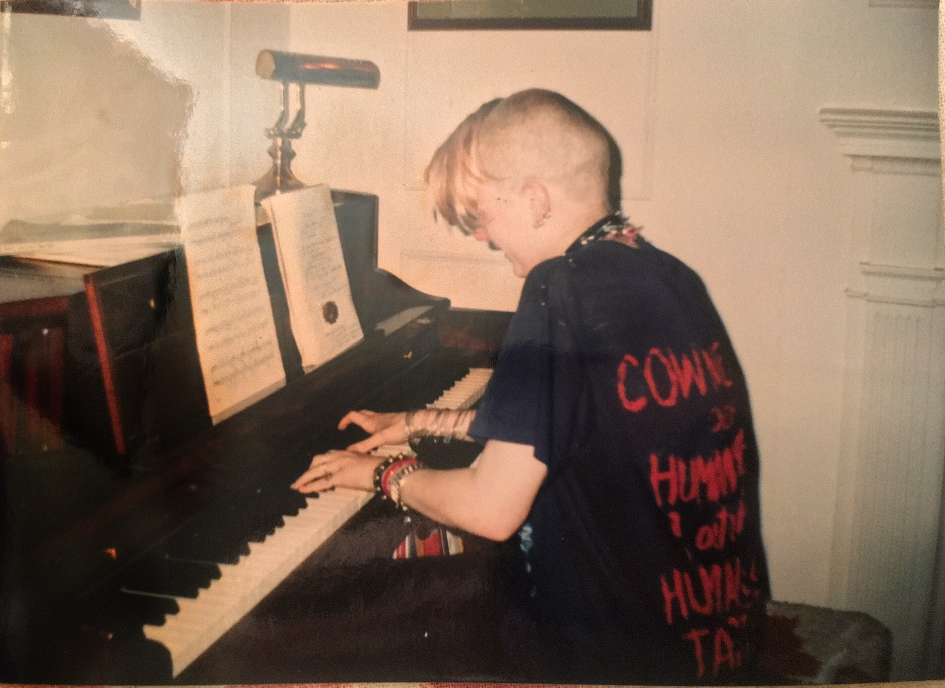 Here is adorable, teen-aged me, likely playing Rachmaninoff. (An adjudicator told me once that my bracelets got in the way of my performance sound quality. Luckily, my amazing piano teacher told me that it wasn't an actual issue and that I could wear what whatever I wanted..It's as though he really understood me.)