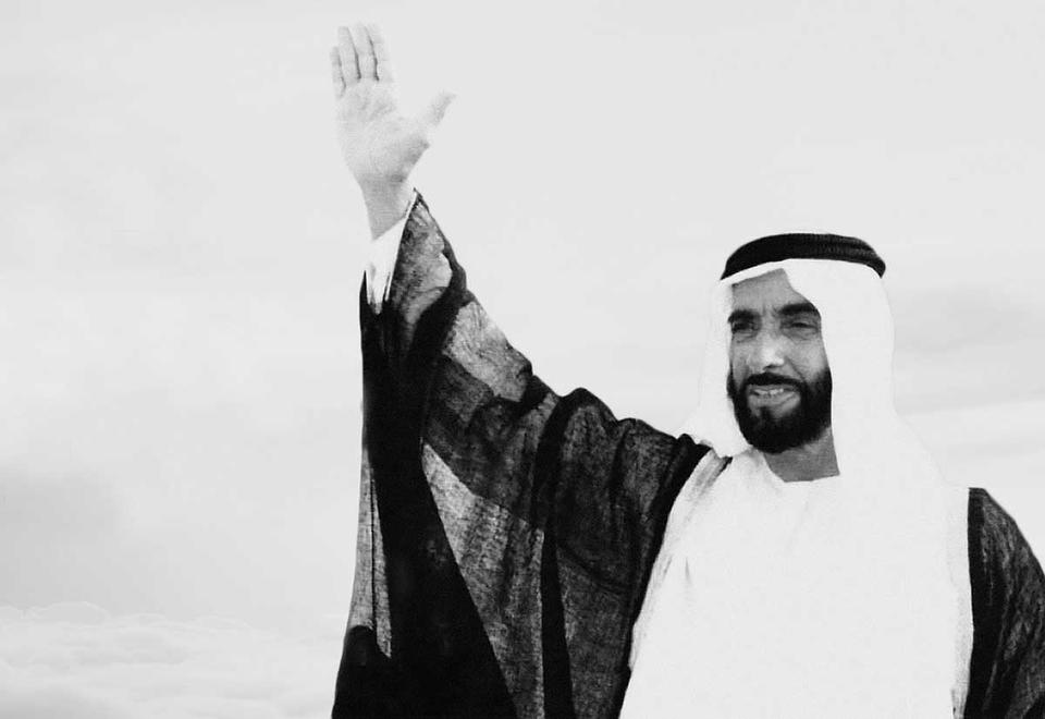 Our values are derived from our late founding father  Sheikh Zayed bin Sultan Al Nahyan  - Leader of Humanity