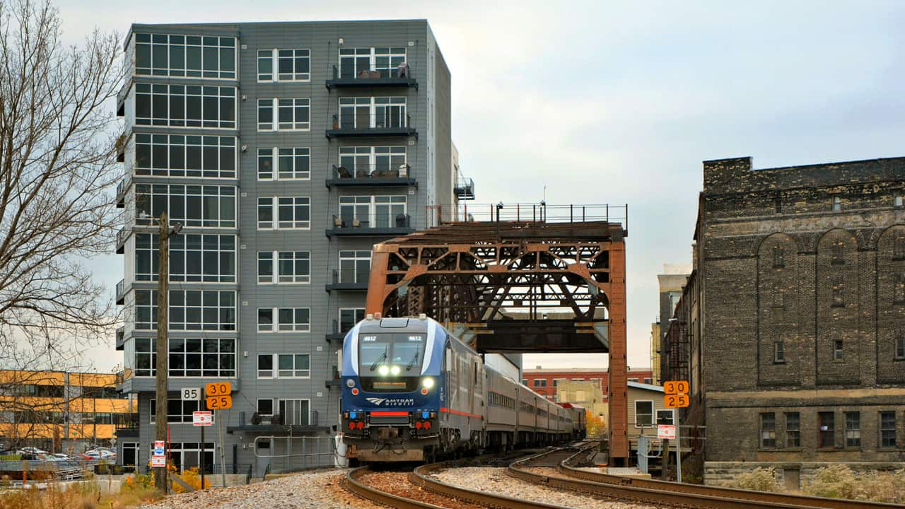 Joe Daufenbach is among a growing number of people who are choosing the train to get to and from Chicago. State and business leaders point out that the Hiawatha creates an important economic link between the two metro areas. -